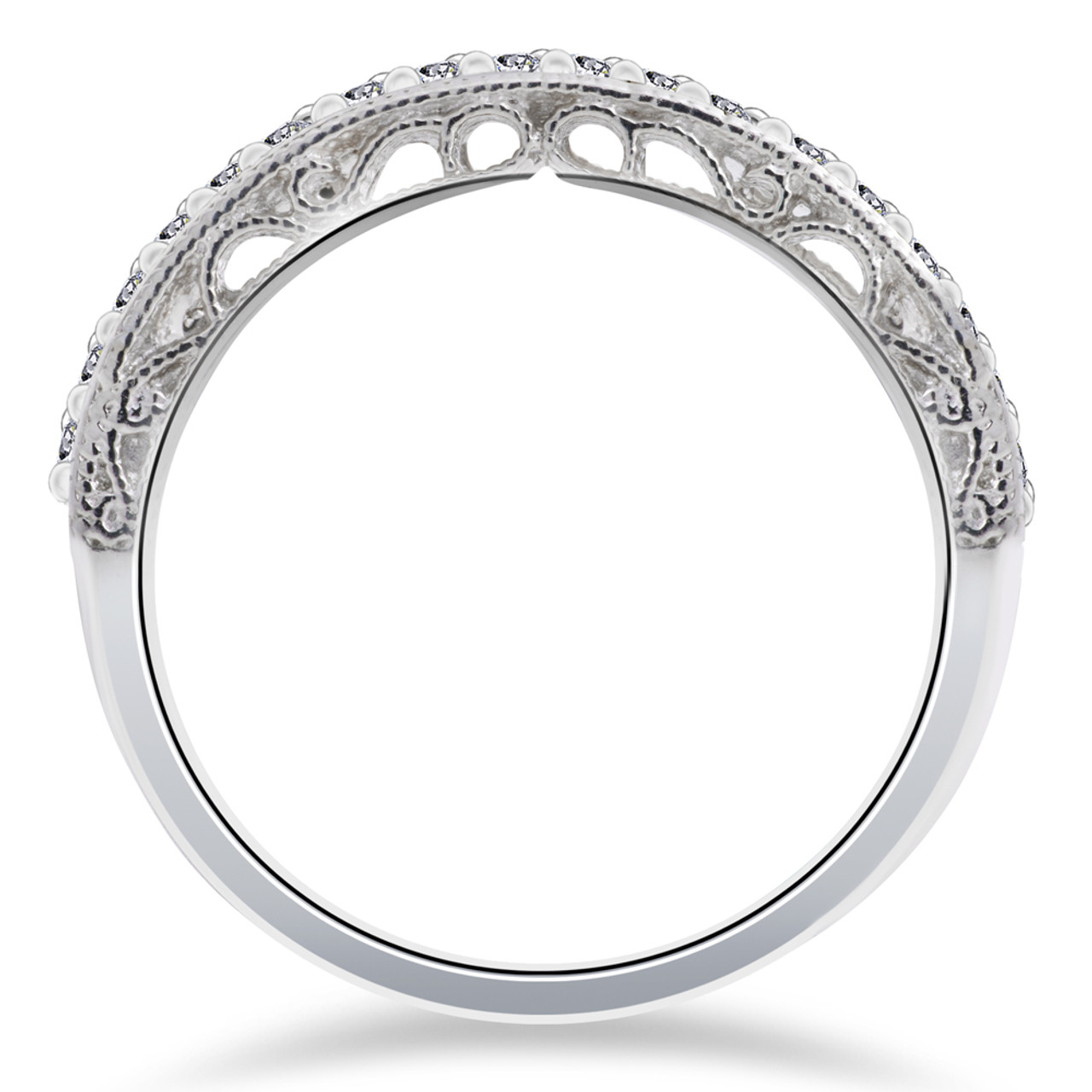 1 2 Ct Vivian Lab Created Diamond Wedding Ring 14k White Gold F Vs