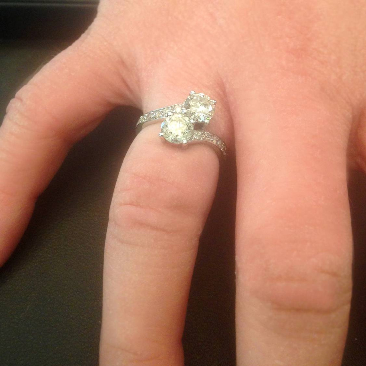 Forever Us Double Diamond Engagement Ring Handcrafted Rings From