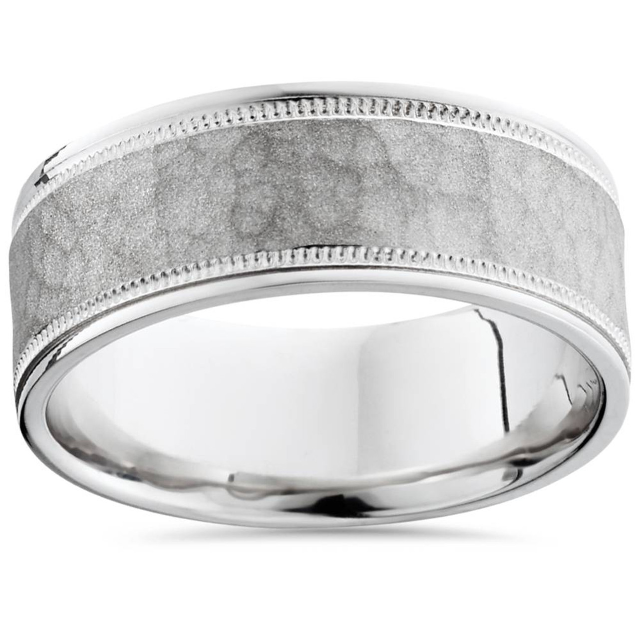 band earth brilliant ring wedding top white platinum gold bands milgrain