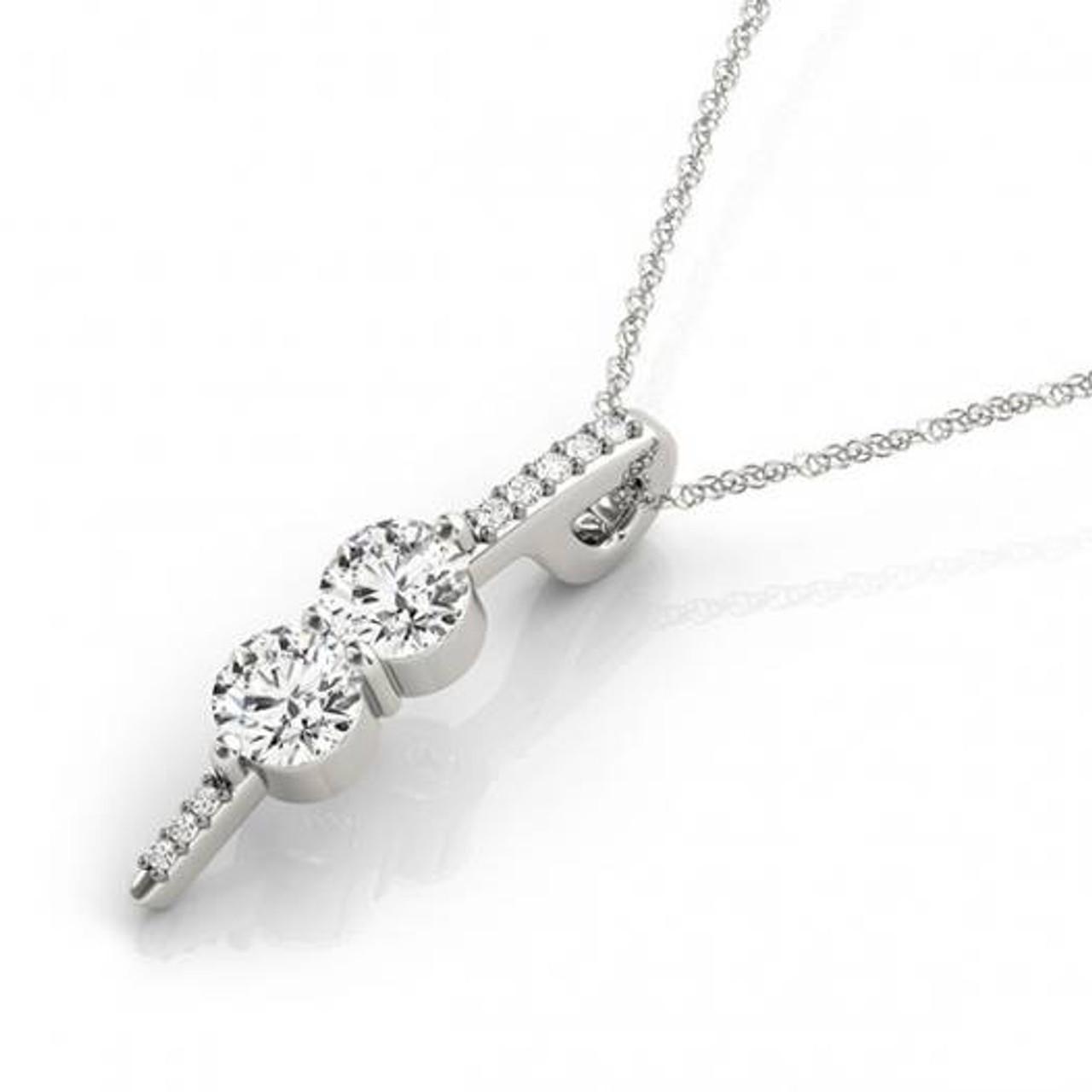 Forever us two stone genuine diamond pendant 12 carat 10k white forever us two stone genuine diamond pendant 12 carat 10k white gold 18 chain h i i1 aloadofball Gallery
