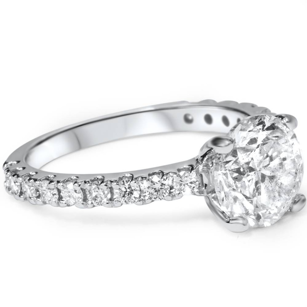 platinum jewellery cut diamond ring in brilliant solitaire round