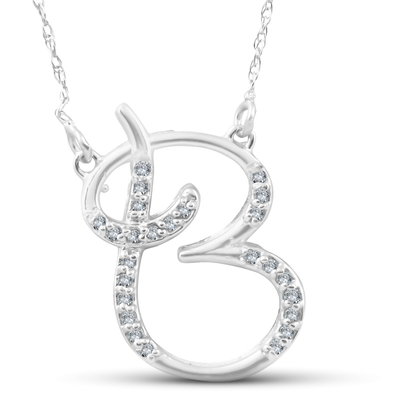 pendant in on sterling shop deal initial diamond amazing b silver