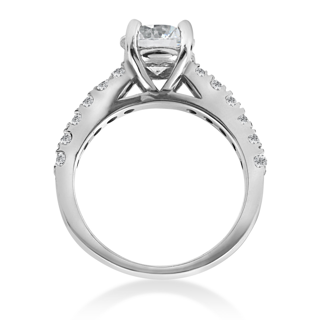 prong diamond product g round ring shared platinum band wedding bands eternity carat
