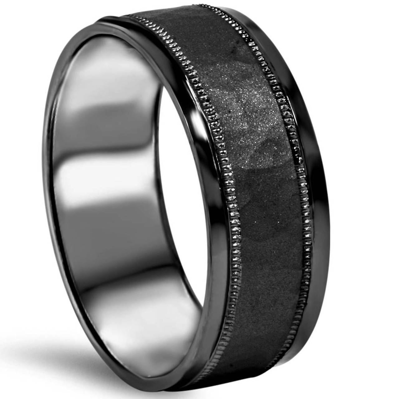 lovely awesome bands gold ring elegant and mens rose wedding beautiful band black tungsten