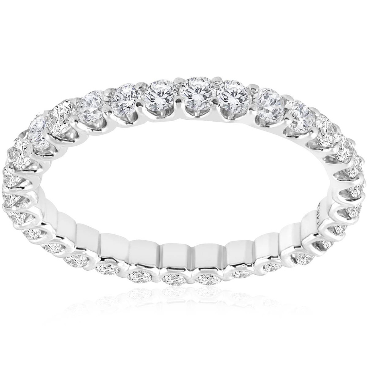 moon diamond setting in style tilt white wedding eternity bands band round gold half