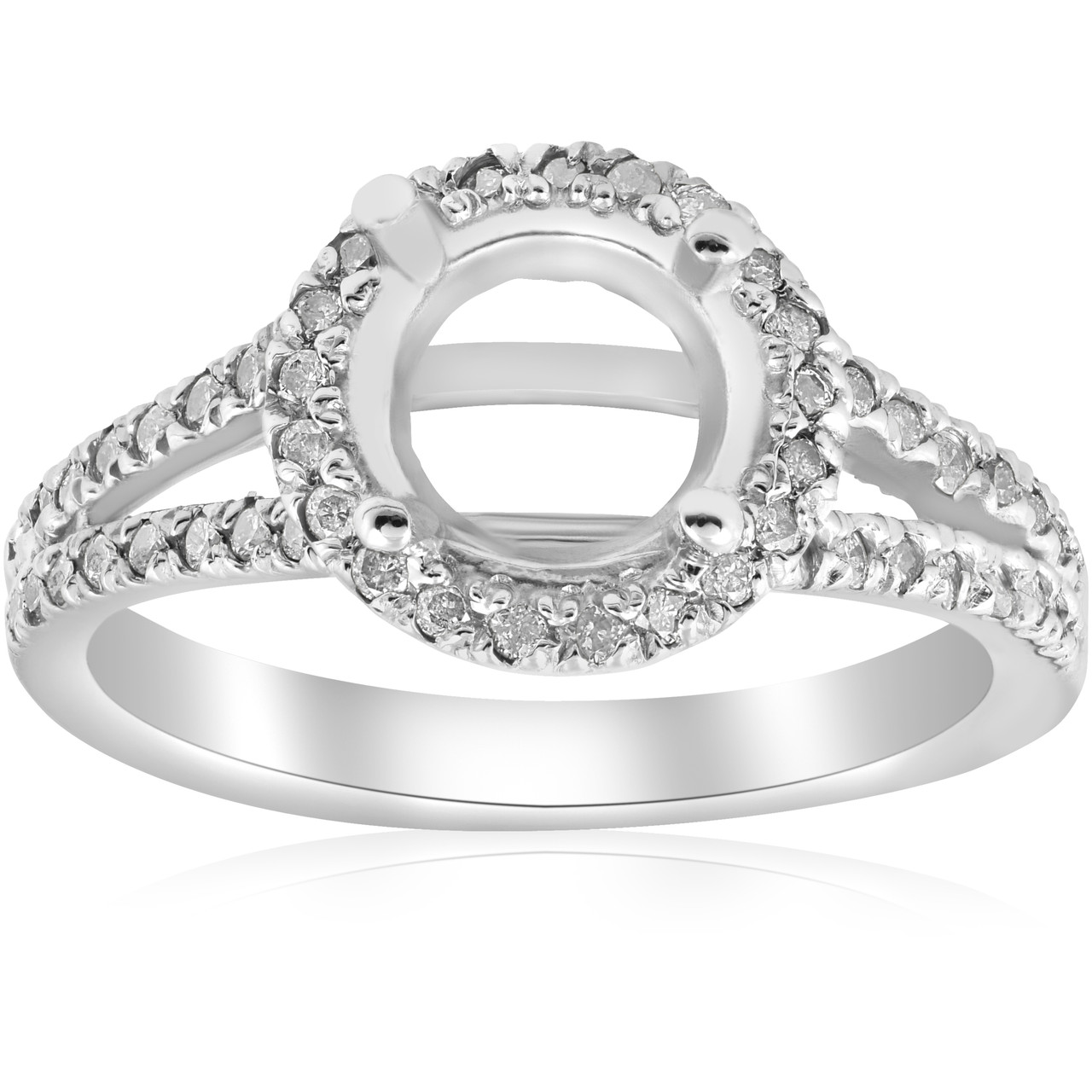 split wedding ring shank rings halo best diamond engagement in white gold mounting odlldhb mount promise
