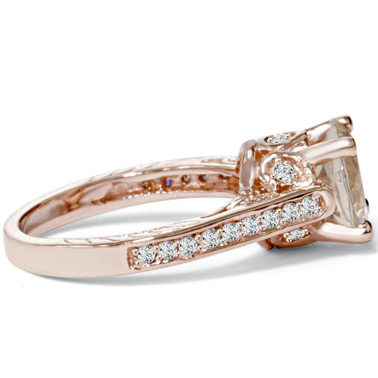 love hollie promise rosados petite engagement box jewelers ring cushion halo morganite diamond gold and rose