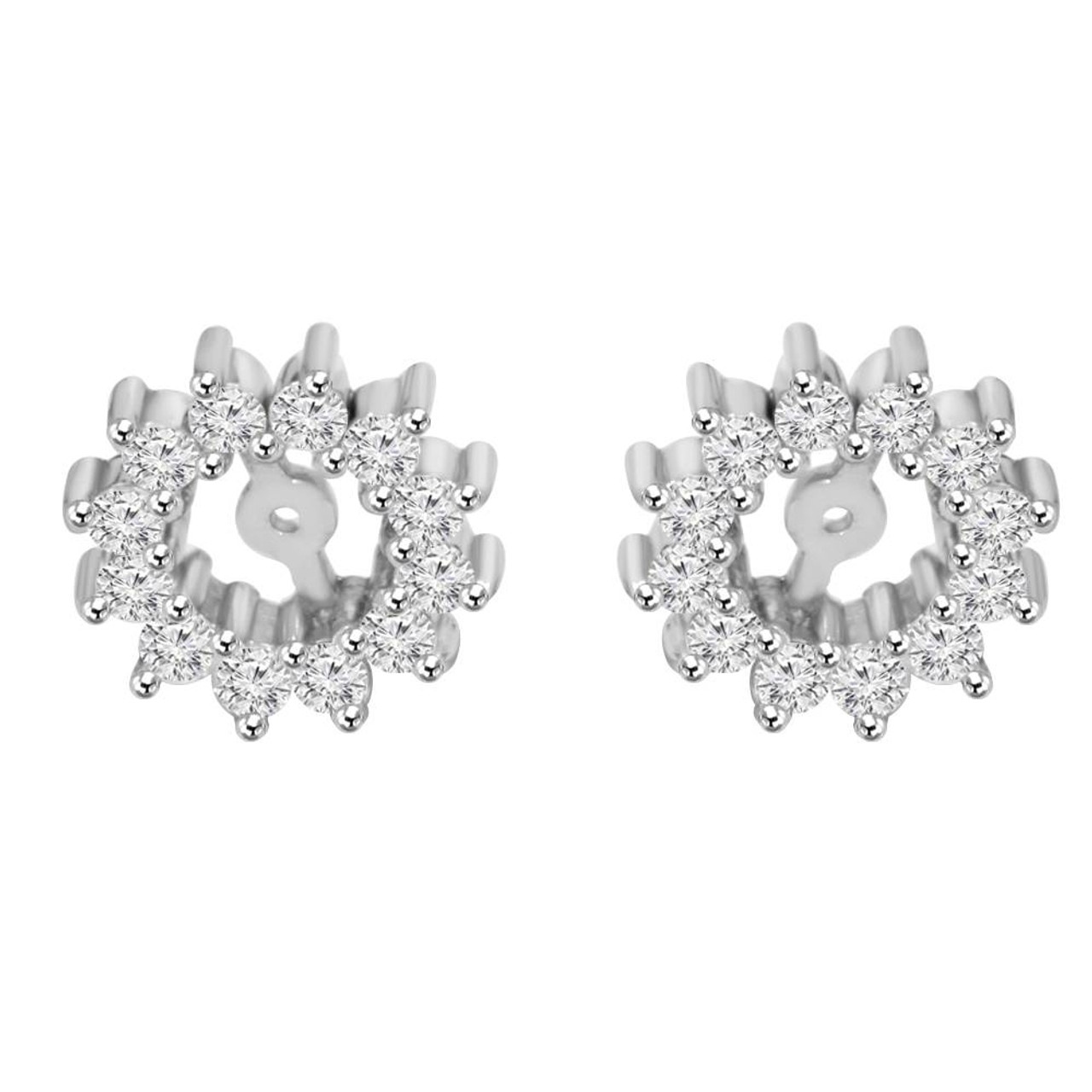 gold earrings mv tw ct zm diamond kaystore kay en cut white round