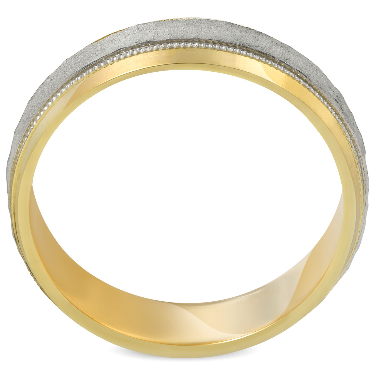 band platinum cut brushed finish wedding polished with mw and cross mens edges satin