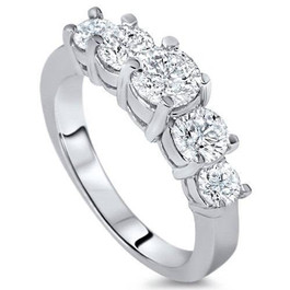 2ct 5-Stone Diamond Anniversary Promise 14K White (G/H, I1)