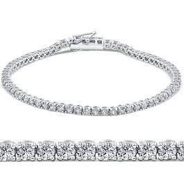 "2 1/2ct VS Diamond Tennis Bracelet 18K White Gold 7"" Double Lock Clasp (G, VS2)"