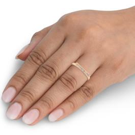 1/10CT Bar Diamond Ring 14K Rose Gold (H/I, I1)