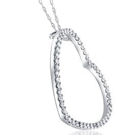 2ct Heart Shaped HUGE Diamond Pendant Necklace 14K (G/H, I2-I3)