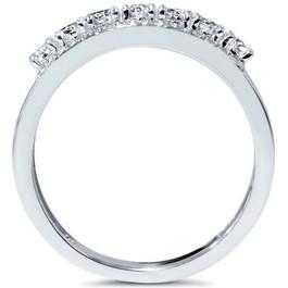 3/4ct Diamond Wedding Ring 14K White Gold (G/H, I1-I2)