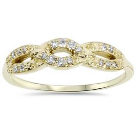 1/5ct Diamond Infinity Ring 10k Yellow Gold (H/I, I2-I3)