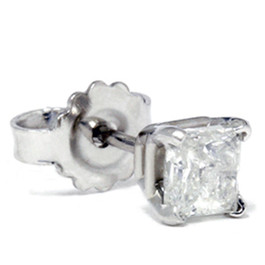 1/3ct Diamond Stud 14K White Gold (G, SI)