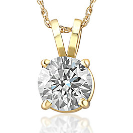 3/4ct Diamond Solitaire Pendant 14K Yellow Gold (J/K, I2-I3)