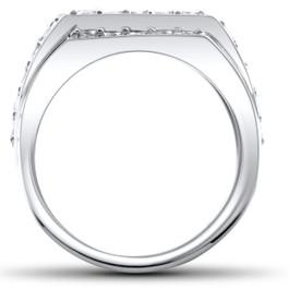 2 ct Mens Diamond Ring 10K White Gold (H/I, I1-I2)