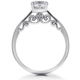 2 ct Lab Created Eco Friendly Diamond Gabriella Engagement Ring 14k White Gold (F, VS)