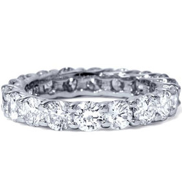 3ct Trellis Diamond Eternity Wedding Ring 14K White Gold (G/H, I1)