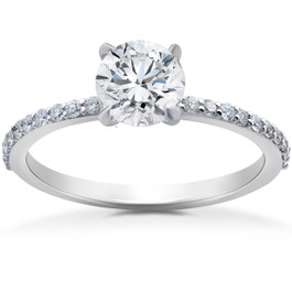 3/4 ct Lab Grown Diamond Sophia Engagement Ring 14k White Gold (F, VS)
