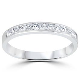 3/8ct Princess Cut Diamond Wedding Anniversary Ring 14K (H, I1)