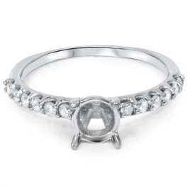 1/3ct Half Eternity Diamond Ring 14K White Gold (G/H, I1)