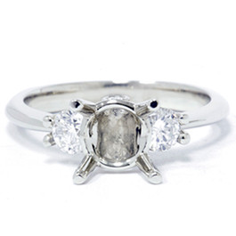 1/3ct Diamond Semi-Mount Engagement Ring 14K Setting (G/H, I1)