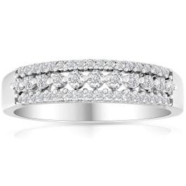 1/4ct Diamond Anniversary Ring 10K White Gold (G/H, I2-I3)
