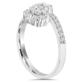1 1/2CT Forever Us Diamond Two Stone Halo Engagement Ring 14K White Gold (H/I, I1-I2)