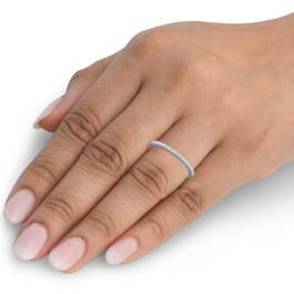 1/10ct Diamond Wedding Ring 10K White Gold (J/K, I1-I2)