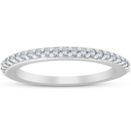 1/4ct Diamond Wedding Ring 14K White Gold Anniversary (G/H, I2)