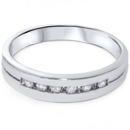 1/4ct Diamond Wedding White Gold Stackable Guard Ring (G/H, I2)