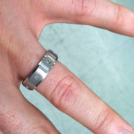 Mens Princess Cut Diamond White Gold Wedding Ring Band (G/H, SI)
