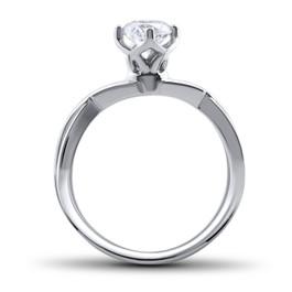 1/2 Ct Round Solitaire Diamond Vintage Engagement Ring 14K White Gold (H/I, I1-I2)