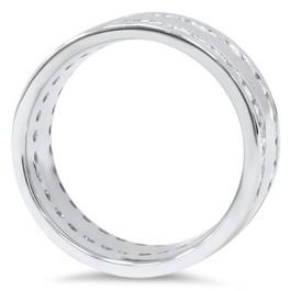 10K White Gold 1 1/2ct Diamond Eternity Ring Band New (G/H, I1)
