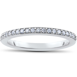 1/4ct Stackable lab Grown Diamond Wedding Ring (F, VS)