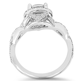 2.25CT Halo Infinity Diamond Engagement Ring 14K White Gold (F, SI(2)-I(1))