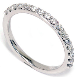 1/3ct Prong Diamond Ring 14K White Gold (G/H, I1)