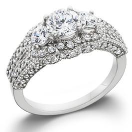1 3/4ct Vintage Heirloom Diamond Ring 14K White Gold (G/H, I1)