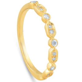 1/6ct Diamond Wedding Ring 14k Yellow Gold (F, VS1-VS2)