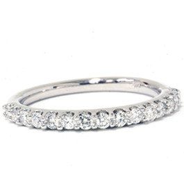 3/8ct Diamond Ring Womens Stackable Anniversary 14K White Gold Band (G/H, I1)