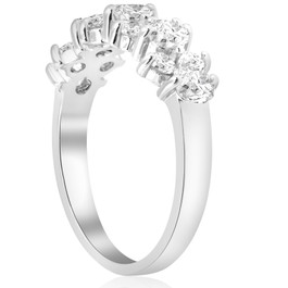 1 1/4 CT Diamond Wedding Anniversary Ring 14K White Gold (H/I, I1-I2)