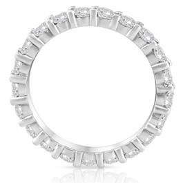 Diamond Eternity Ring 2 Carat Womens Stackable Wedding Band 14K White Gold (G-H, I1)