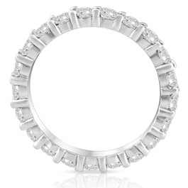 Diamond Eternity Ring 2 Carat Womens Stackable Wedding Band 14K White Gold (J-K, I2-I3)