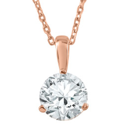 3/8 ct Solitaire Diamond Pendant available in 14K and Platinum (F, SI1-SI2)