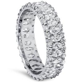 2 5/8ct Marquise Diamond Eternity Ring 14K White Gold (H/I, SI2-I1)