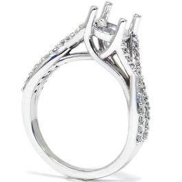 1/2ct Twist Diamond Ring Setting 14K White Gold (G/H, I1)