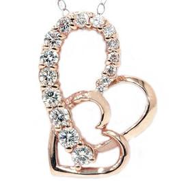 14K Rose Gold 1ct Diamond Journey Heart Pendant (G/H, I1)