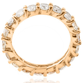 3 1/2 ct Diamond Eternity Ring 14k Yellow Gold (I/J, I1)